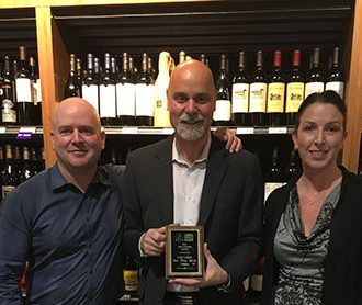 From Craft Cellars, Left to right - Steve Trickett - Marketing & Events Manager, Darcy Wood - Managing Partner, Samantha Henderson - Administrative Manager