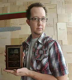 Southern Zone Retailer of the Year winner - Kyle Szabo of Westminster Liquor Store